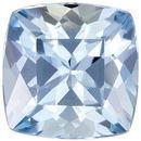 Bright & Lively Cushion Cut Aquamarine Loose Gem, Medium Rich Blue, 7 mm, 1.47 carats