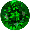 Bright & Lively Tsavorite Gemstone in Round Cut, Vivid Grass Green, 5.1 mm, 0.65 carats