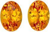 Brilliant Orange Spessartite Calibrated Pair in Oval Cut, 7.0 x 5.0 mm, 2.11 carats
