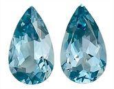 Captivating Pair of Rich Blue GEM Aquamarine Genuine Gemstones, Pear Shape,  4.21 carats,