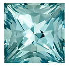 Captivating Unheated Blue Aquamarine Genuine Gemstone for SALE, 12.3mm Princess Cut,  8.35 carats,
