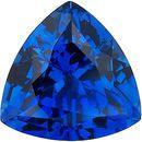 Chatham  Blue Sapphire Trillion Cut in Grade GEM
