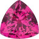 Chatham  Pink Sapphire Trillion Cut in Grade GEM