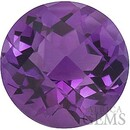 Checkerboard Round Shape Genuine Amethyst Loose High Quality Gemstone Grade AA 7.00 mm in Size 1.2 carats