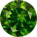 Classic Russian Demantoid Garnet Loose Gem in Round Cut, Rich Grass Green, 4.3 mm, 0.38 carats