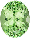 Crazy Bright Green Garnet Loose Gem in Oval Cut, Mint Green, 11.2 x 8.9 mm, 5.14 carats