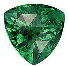 Dazzling Dark Green Tourmaline Genuine Gemstone, Trillion Cut, 15.8 x 15.7 mm,  Rose Cut 14.8 carats