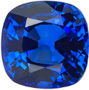 Deal on Genuine Blue Sapphire Loose Gemstone in Cushion Cut, Fine Blue Color in 7.90 x 7.88 mm, 3.44 Carats - With CDC Certificate