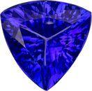 Deep Color Purple Blue Tanzanite in Trillion Cut, 7.5 mm, 1.41 Carats