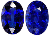 Deep Velvety Blue Kanchan Sapphire Pair for SALE - Well Cut & Well Matched, Oval Cut, 6 x 4 mm, 1.32 carats