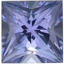Engagement Tanzanite Stone, Princess Shape, Grade A, 5.50 mm in Size, 0.85 Carats
