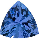 Engagement Tanzanite Stone, Trillion Shape, Grade AAA, 6.50 mm in Size, 0.88 Carats