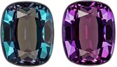 Excellent Clarity Alexandrite Loose Gem in Cushion Cut, Rich Teal Blue to Eggplant, 5.3 x 4.3 mm, 0.65 carats