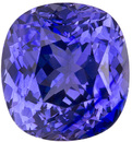Exceptional Fine Purple Sapphire Stone in Cushion Cut, Rich Violet Blue Purple, 9.9 x 9.3 mm, 5.28 carats