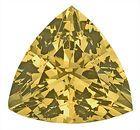 Exceptionally Bright Stone! Fantastic Unheated Yellow Green Grossular Garnet Gem, Trillion Cut, 9.5 x 9.5 mm, 3.28 carats