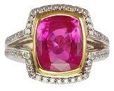 Extraordinary Jumbo Super Gem 6 ct Pink Sapphire And Diamond Custom Ring for SALE - SOLD