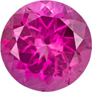 Eye Catching Tourmaline Loose Gem in Round Cut, Vivid Fuchsia Pink, 8.7 mm, 2.49 Carats
