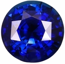 Faceted Blue Sapphire Gem Stone, Round Shape, Grade AA, 3.75 mm in Size, 0.3 Carats