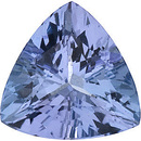 Faceted Tanzanite Gemstone, Trillion Shape, Grade A, 5.50 mm in Size, 0.55 Carats