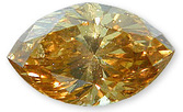 Fancy Orangy Brownish Yellow 1.01 carats