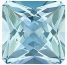 Fantastic, Unique Shape! Unheated Brazilian Aquamarine Gemstone, Radiant Cut, 12.29 Carats
