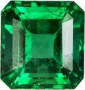 Fiery Clean Emerald Loose Gemstone in Rich Electric Green, 4.8 x 4.6 x mm, 0.52 carats