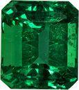 Fiery Emerald Genuine Gem from Brazil in Emerald Cut, 6.5 x 5.7 mm, 1.17 Carats