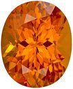 Fiery Rich Orange Spessartite Garnet Loose Gemstone in Oval Cut in 9.6 x 7.9 mm, 3.32 carats