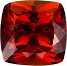 Fiery Spessartite Loose Gem in Fiery Rich Orange Red Color, 9.6 mm, 5.4 carats