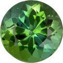 Fine Fiery Round Cut Green Tourmaline Loose Gem, Pure Grass Green, 6.4 mm, 1.23 carats
