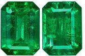 Finest Quality Emerald Matched Pair - Super Color, Clarity, Life & Cut, Emerald Cut, 1.69 carats