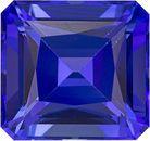Finest Vivid Tanzanite Best Color in Square Cut, 10.2 x 9.6 mm, 5.71 carats