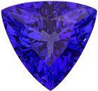 Gem Trillion Tanzanite Loose Faceted Gem in Rich Purple Blue Color, 11.8 mm, 4.81 carats