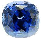 Gemmy Fine Colored Cushion Cut Blue Sapphire Gemstone 7.01 carats at AfricaGems