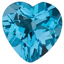 Natural Quality Loose Cut Gemstone Heart Shape Swiss Blue Topaz Gem Grade AAA, 10.00 mm in Size, 4.9 Carats