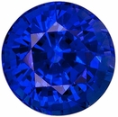 Genuine Blue Sapphire Gem Stone, Round Shape, Grade AAA, 6.50 mm in Size, 1.5 Carats