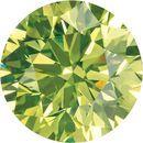 Genuine Diamonds Round Cut Apple Green Color