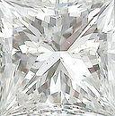 Genuine Princess Cut Diamonds in GH Color - I Clarity
