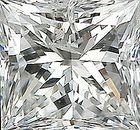 Genuine Princess Cut Diamonds in IJ Color - I Clarity