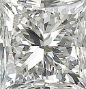 Genuine Princess Cut Diamonds in IJ Color- SI Clarity
