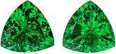 Glamorous, Very Fiery Bright & Hard to Find Tsavorite Pair, Trillion cut, 1.99 carats