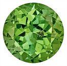 Gleaming Green Tourmaline Genuine Gemstone for SALE,  Round Cut, 8.3 x 8.2 mm, 2.28 carats
