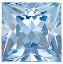 Glorious Dark Aquamarine Natural Gem- Great Cut! Princess  Cut, 3.18 Carats