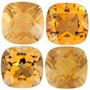 GOLDEN CITRINE  Antique Square Cut Gems - Calibrated
