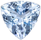 Gorgeous Brilliant Aquamarine Loose Gemstone in Trillion Cut, Vivid Medium Blue, 9 mm, 2.35 carats