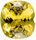 Gorgeous Intense Yellow Chrysoberyl Gemstone - Perfect Centergem, Cushion Cut, 6.84 carats