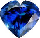 Gorgeous Rich Plus Color in Heart Shape Tanzanite Gemstone, 9.11 carats, 14.0 x 13.3 mm