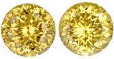 Gorgeous Yellow Tanzanian Zircons - Diamond Like , 8 mm, Round Cut, 5.53 carats