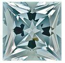 Great Buy on This Brilliant Blue Aquamarine Natural Gemstone, Princess Cut,  7.78 carats,
