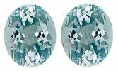 Great Pair of Captivating Discounted Loose Blue Aquamarine Genuine Gemstones, Oval Cut, 9.52 carats,